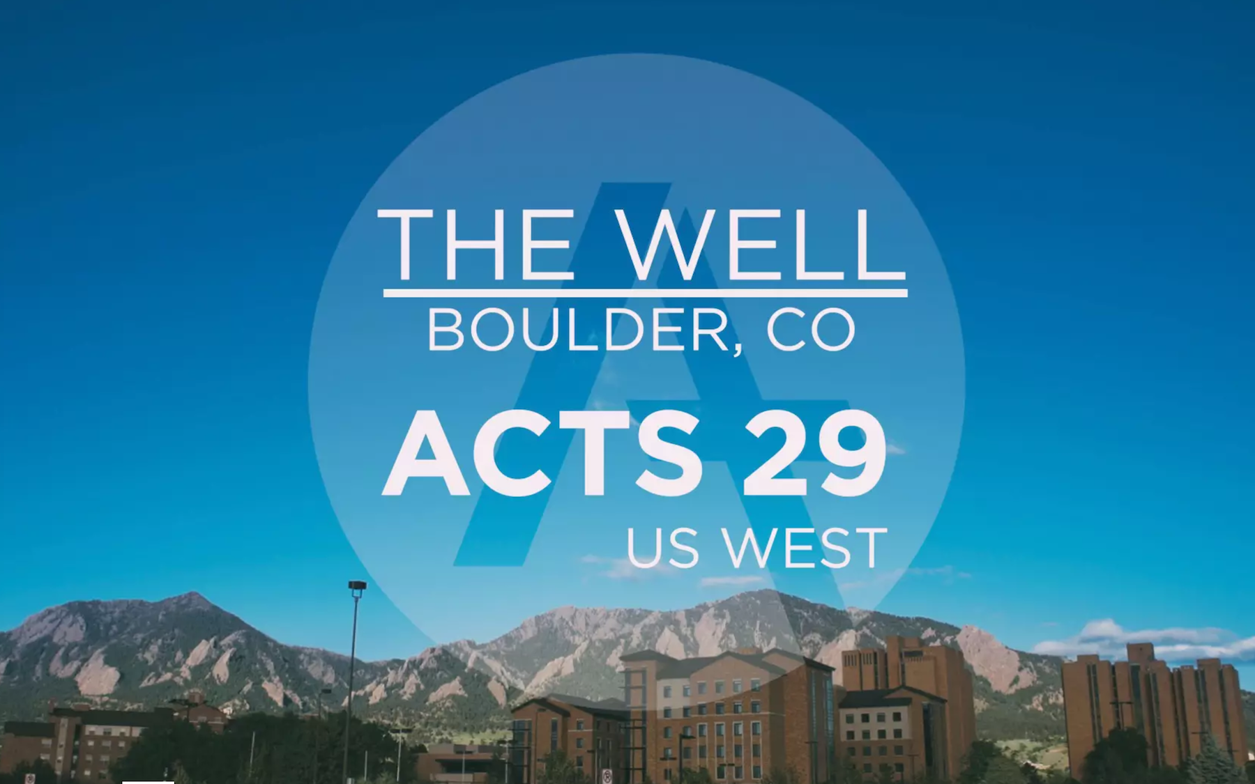 US West Church Planting Stories | The Well, Boulder, CO